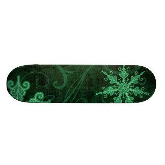 Snowflake Swirls 2 Skateboard Deck