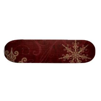 Snowflake Swirls Skate Boards