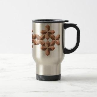 Snowflake Tan mug