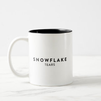 Snowflake Tears Two-Tone Coffee Mug