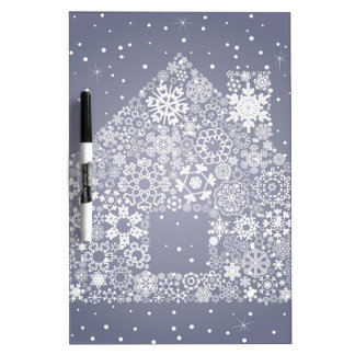 Snowflake the house dry erase board