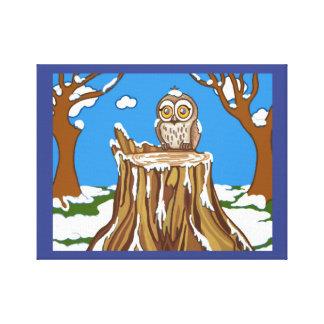 Snowflake the Owl Canvas Print