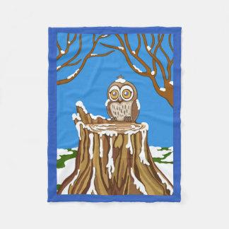 Snowflake the Owl Fleece Blanket