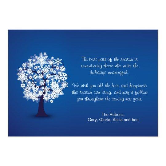 Snowflake Tree Holiday Card
