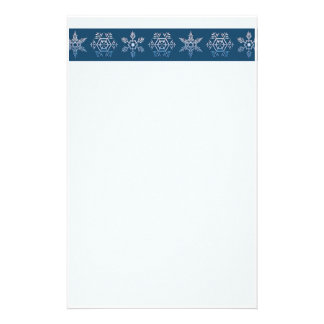 Snowflake Trio  Christmas Stationery