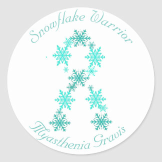 Snowflake Warrior  Myasthenia Gravis Sticker