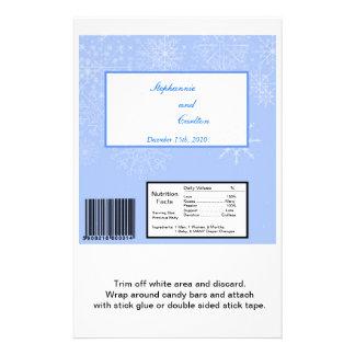 Snowflake Wedding Hershey's Large Bar Wrapper 14 Cm X 21.5 Cm Flyer