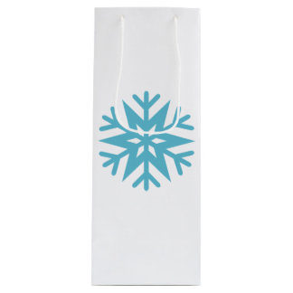 Snowflake Wine Gift Bag