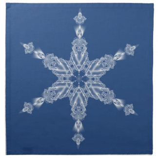 Snowflake winter party cloth napkin