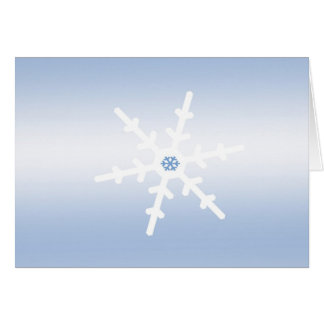 Snowflake Winter Solstice Greeting Card