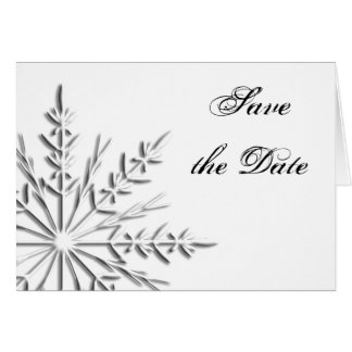 Snowflake Winter Wedding Save the Date Card