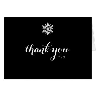 Snowflake Winter Wedding Thank You Card