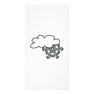 Snowflake with Cloud Photo Greeting Card