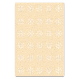 Snowflake Xmas Design Peach Holiday Christmas Tissue Paper