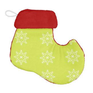 Snowflake Xmas Design Pear Elf Christmas Stocking