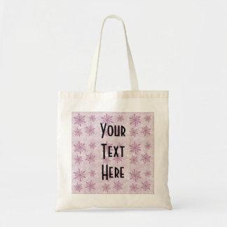 Snowflakes 1 - Pink - Budget Tote Bag