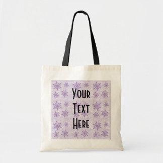 Snowflakes 1 - Purple Tote Bag