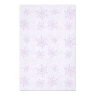 Snowflakes 1 - Purple Personalized Stationery