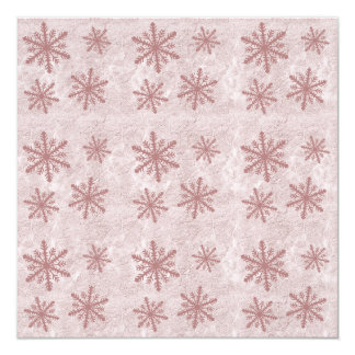 Snowflakes 1 - Red 13 Cm X 13 Cm Square Invitation Card