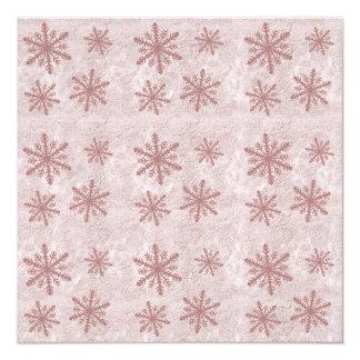 Snowflakes 1 - Red 13 Cm X 13 Cm Square Invitation Card