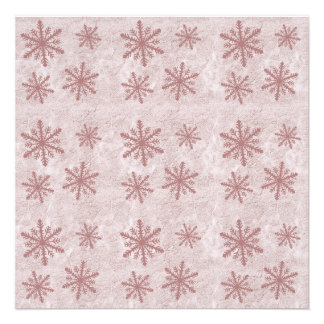 Snowflakes 1 - Red Personalized Announcements