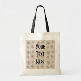 Snowflakes 1 - Sepia Tote Bag