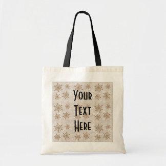 Snowflakes 1 - Sepia Budget Tote Bag