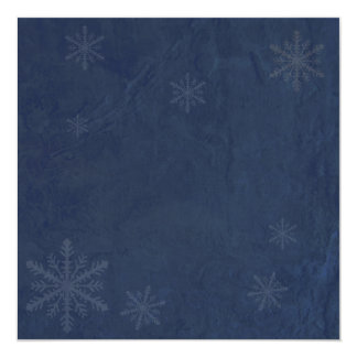 Snowflakes 4 - Original Dark Blue Invites