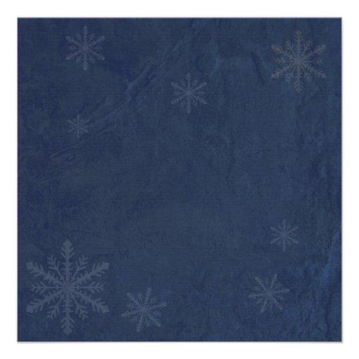Snowflakes 4 - Original Dark Blue Invites