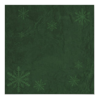 Snowflakes 4 - Original Dark Green Invites