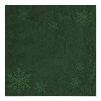 Snowflakes 4 - Original Dark Green Invites