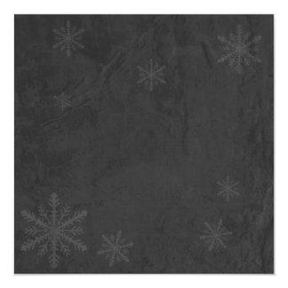 Snowflakes 4 - Original Dark Grey Invites