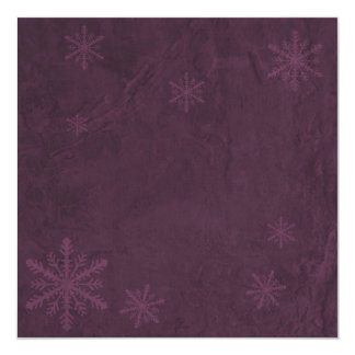 Snowflakes 4 - Original Dark Pink 13 Cm X 13 Cm Square Invitation Card