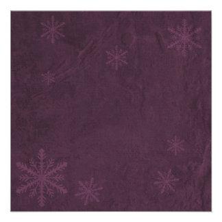 Snowflakes 4 - Original Dark Pink Invites