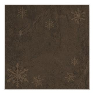 Snowflakes 4 - Original Dark Sepia Invites