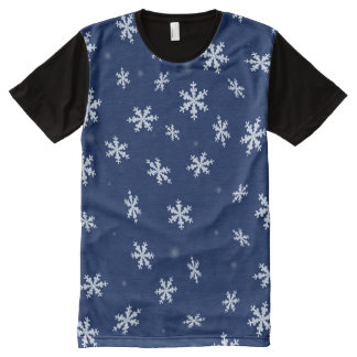 Snowflakes All-Over Print T-Shirt