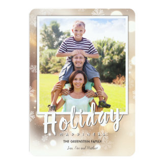 Snowflakes and Bright Lights | Holiday Card
