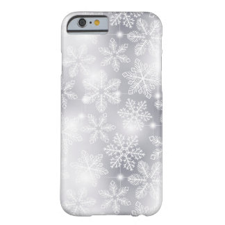 Snowflakes and lights barely there iPhone 6 case