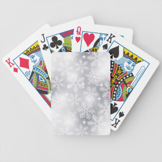 Snowflakes and lights bicycle playing cards