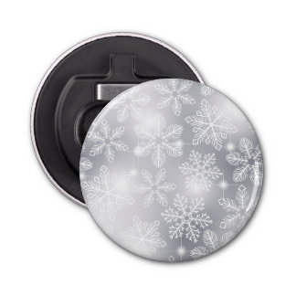 Snowflakes and lights bottle opener