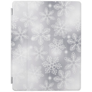 Snowflakes and lights iPad cover