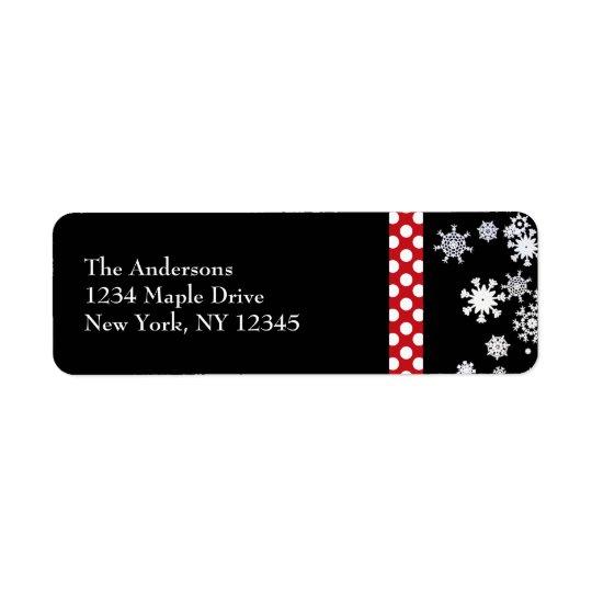 Snowflakes and Polka Dots Christmas Labels