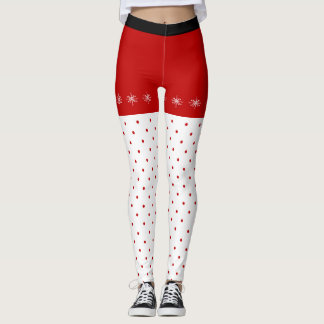 Snowflakes and Polka Dots Leggings