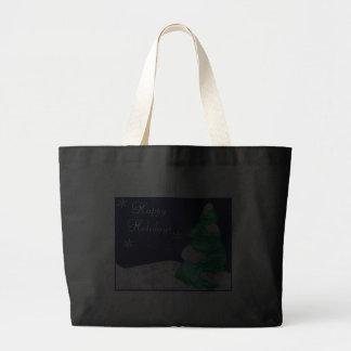 Snowflakes and Tree Christmas Shopping Bag