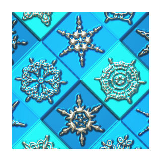 Snowflakes Art 15 Wrapped Canvas Gallery Wrapped Canvas