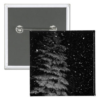 snowflakes at night  unique photograph pin