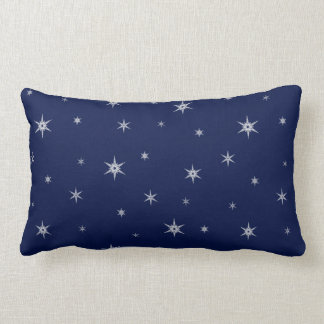 Snowflakes At Night | Winter Time Lumbar Cushion
