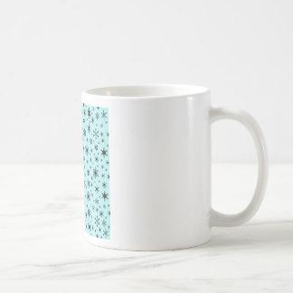 Snowflakes – Black on Pale Blue Mug