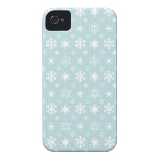 Snowflakes BlackBerry Bold Barely There™ Case Mate Blackberry Bold Covers
