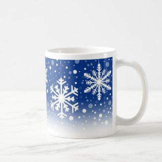 Snowflakes Blue - mug